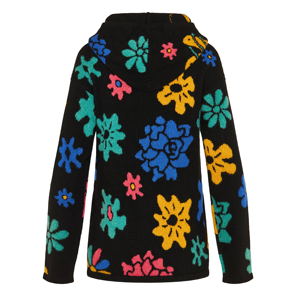 Sound Flowers cashmere hooded sweater