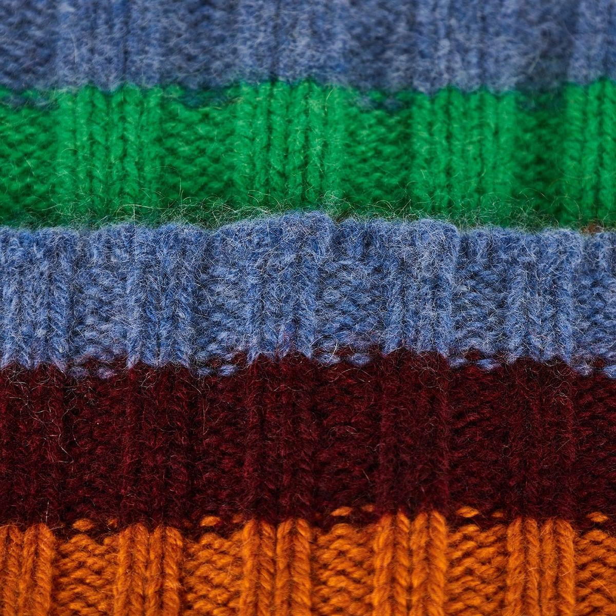Striped cashmere beanie