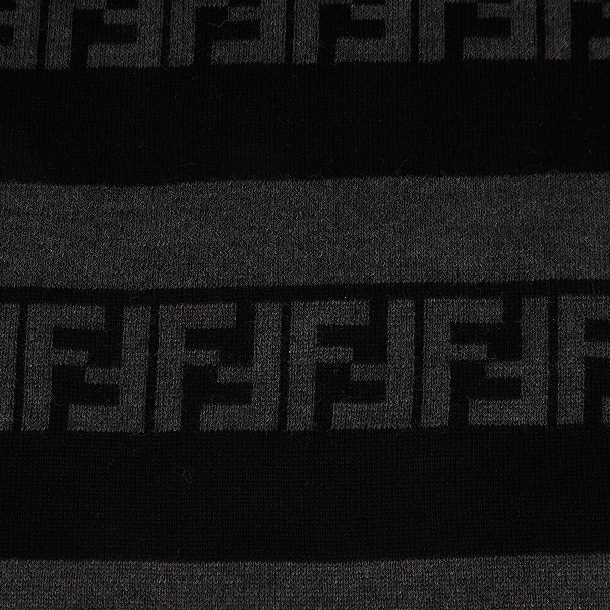 FF striped wool scarf