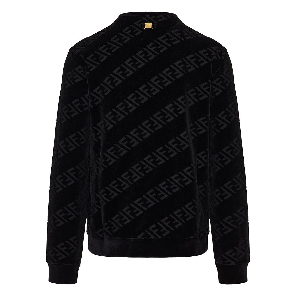 FF jacquard velvet sweatshirt