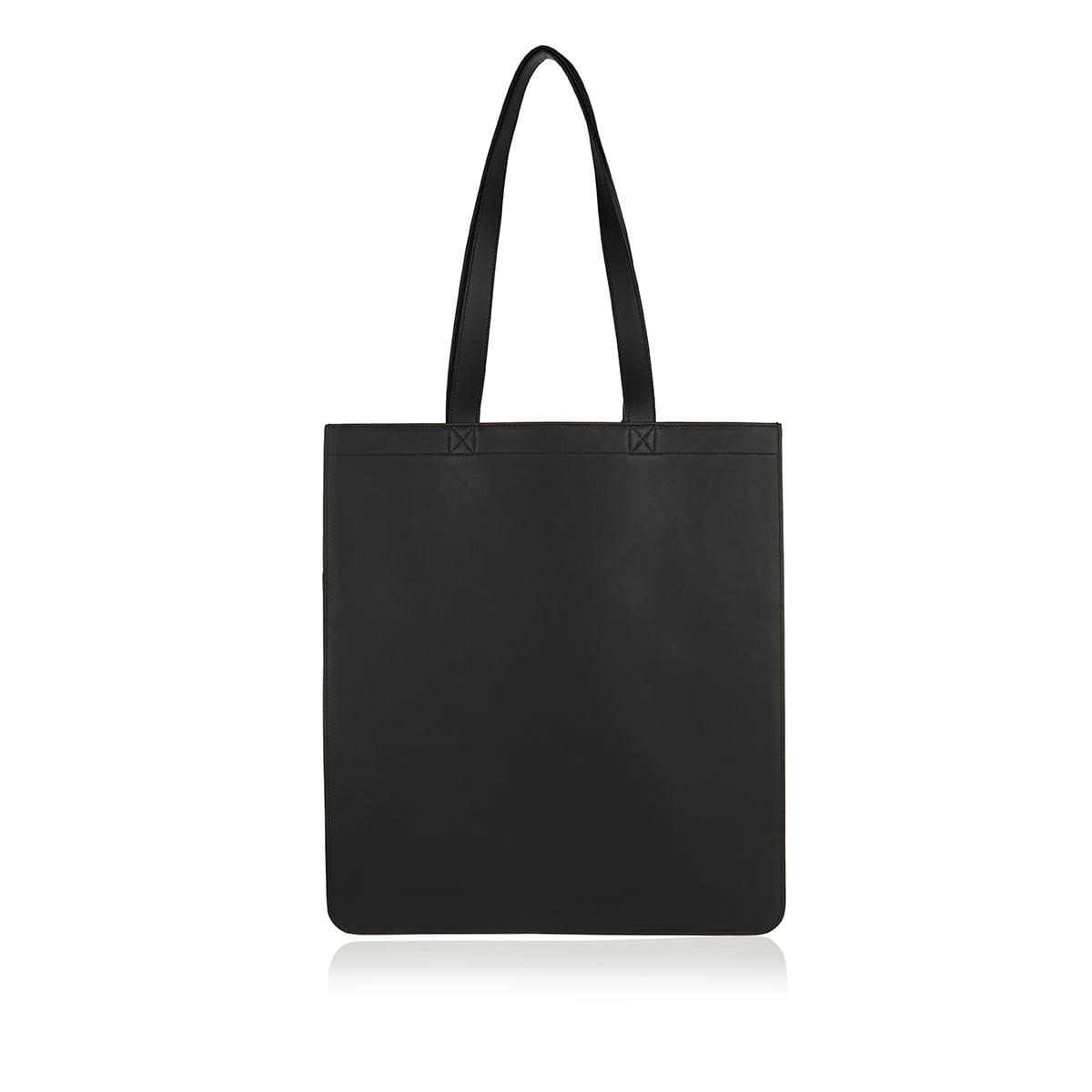 Logo leather shopper