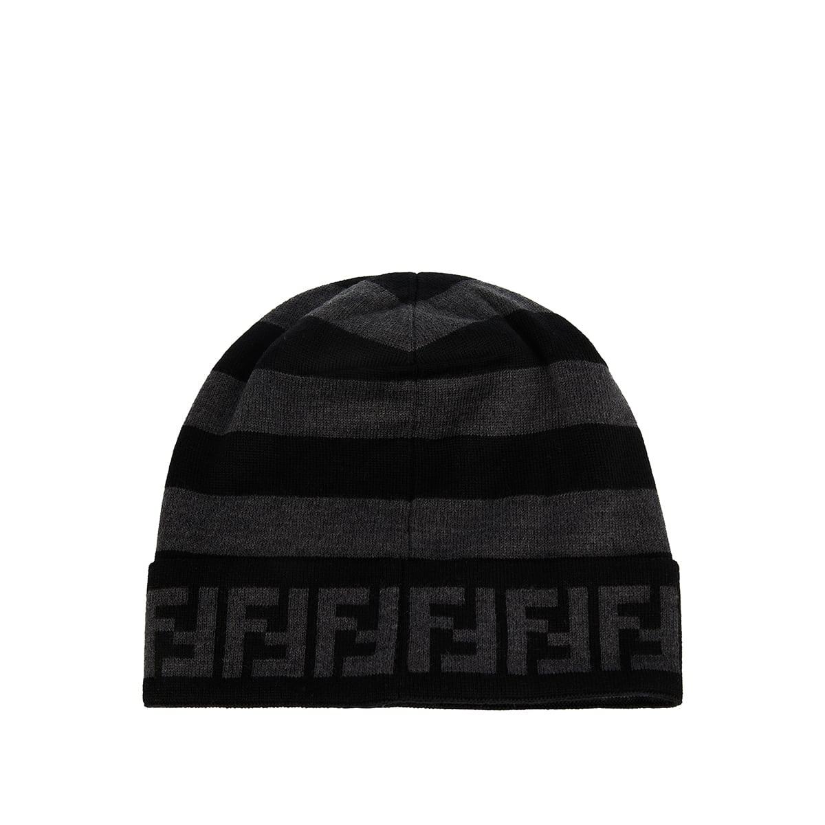 FF striped wool beanie