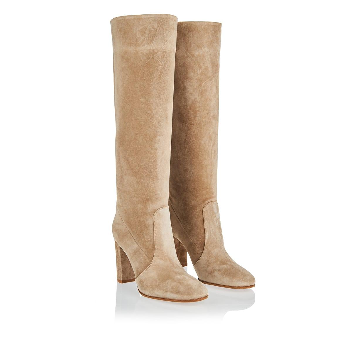 Glen knee-high suede boots