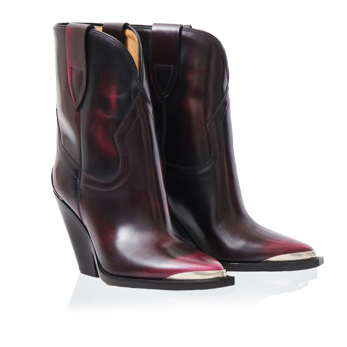Leyane leather Western boots