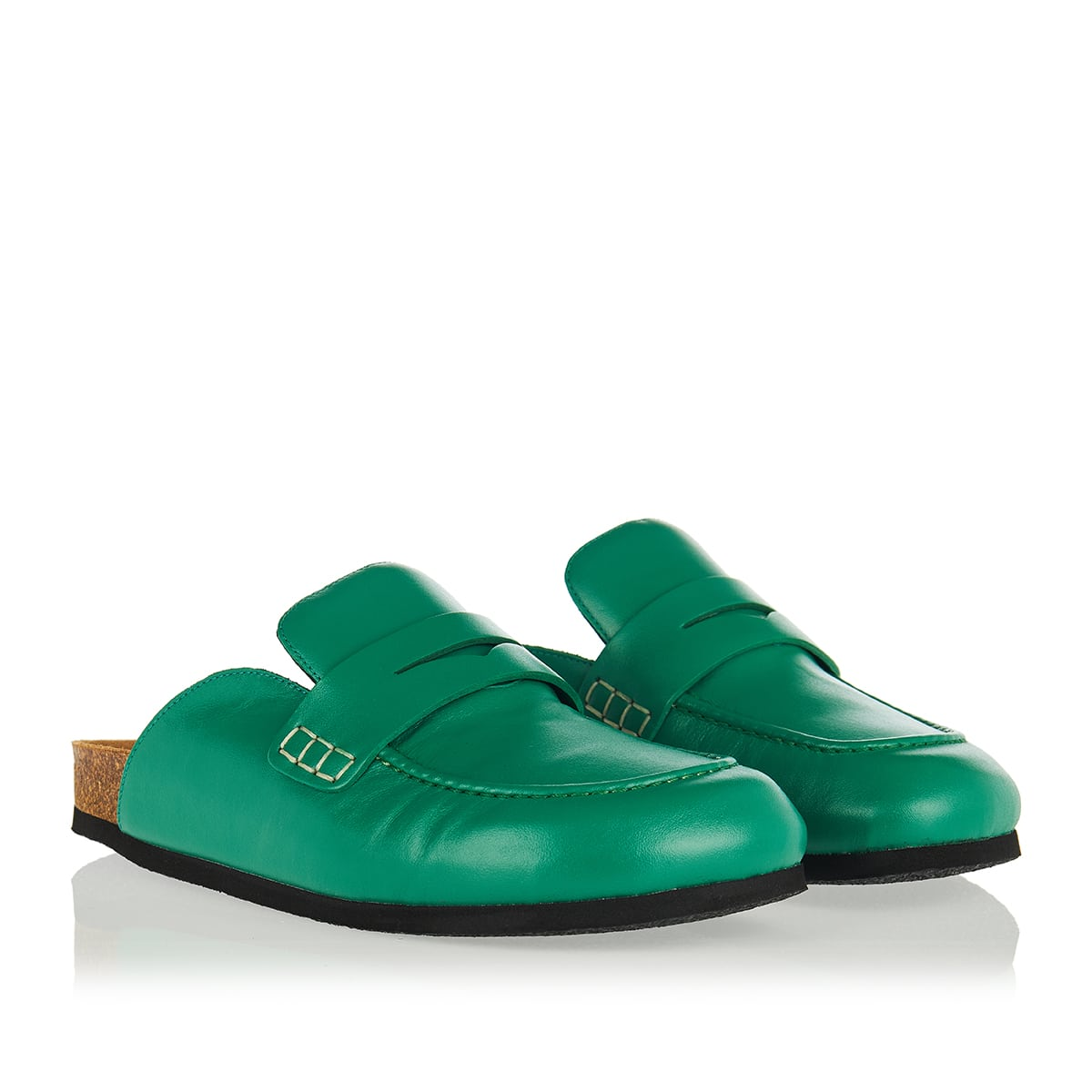 Slide-in leather loafers