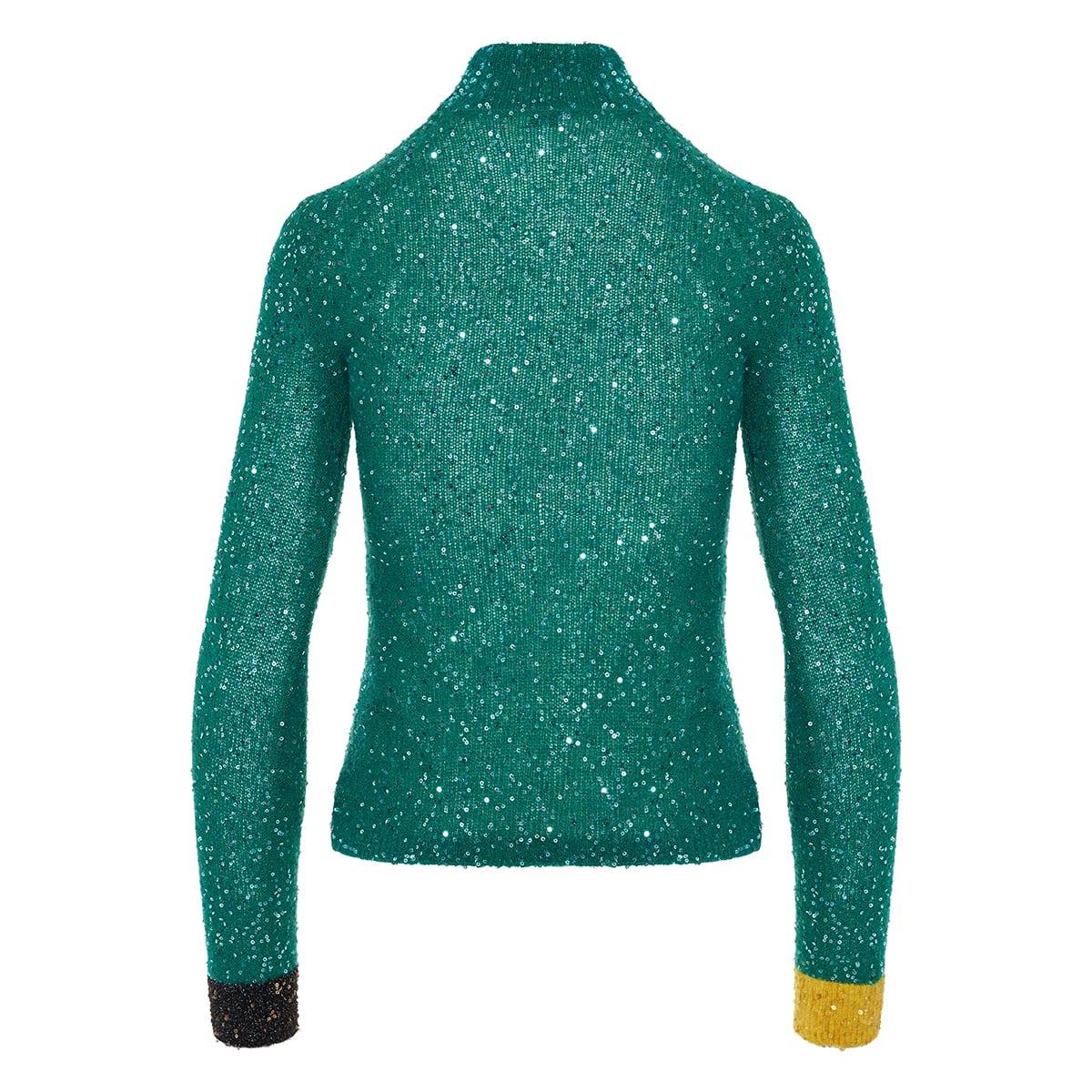 Turtleneck sequin sweater