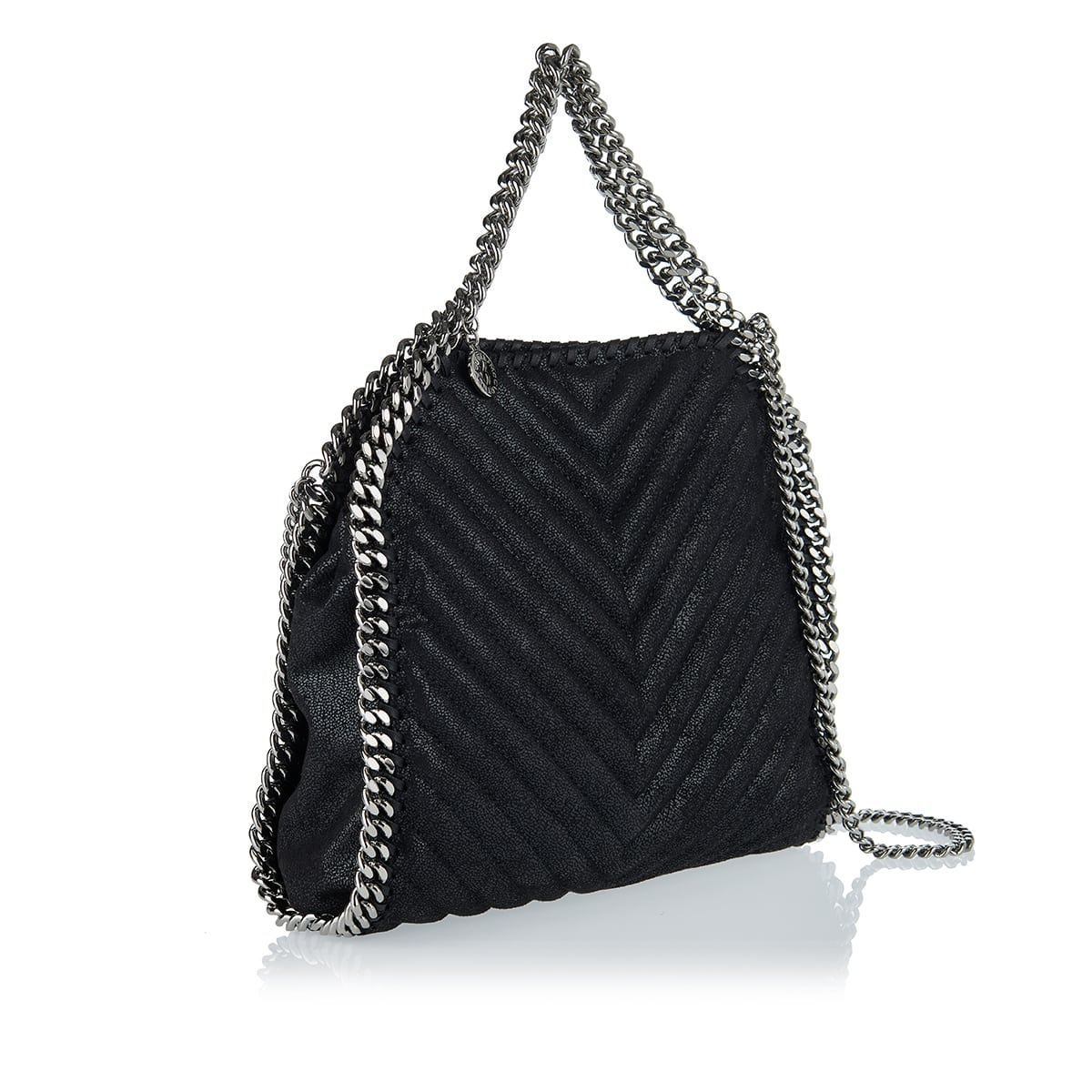 Falabella quilted faux leather mini tote