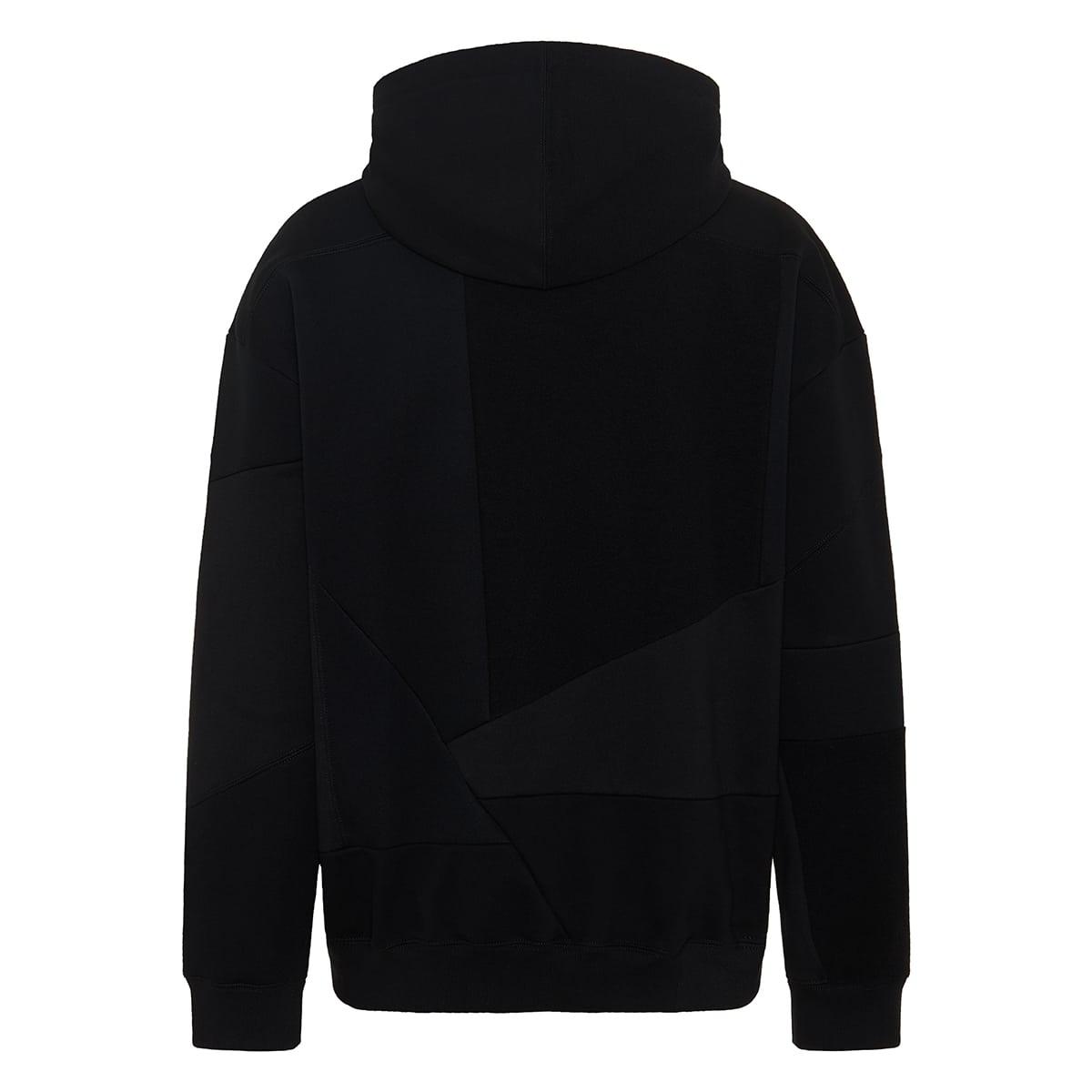 VLTN patchwork cotton hoodie