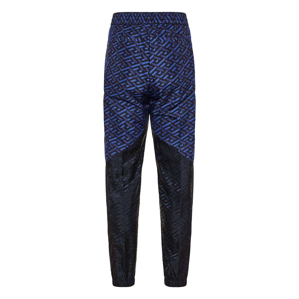 La Greca jacquard track trousers