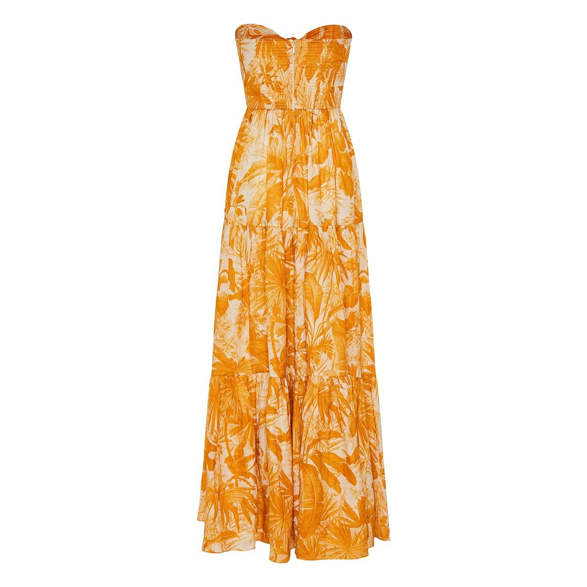 Mae printed linen maxi dress