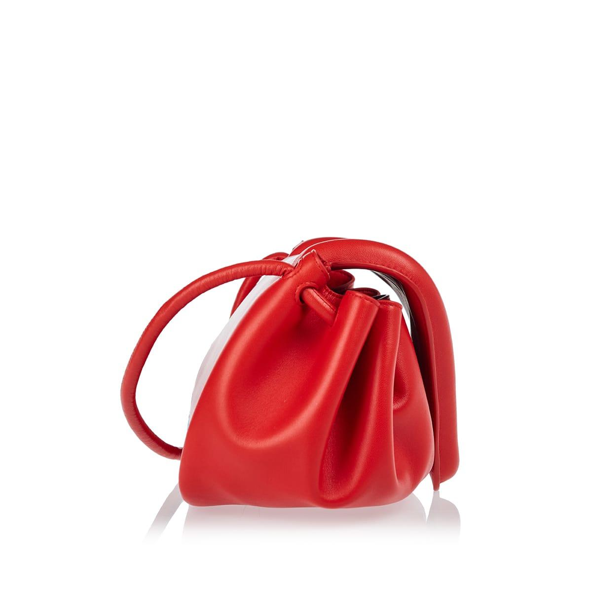 Beak medium leather crossbody bag
