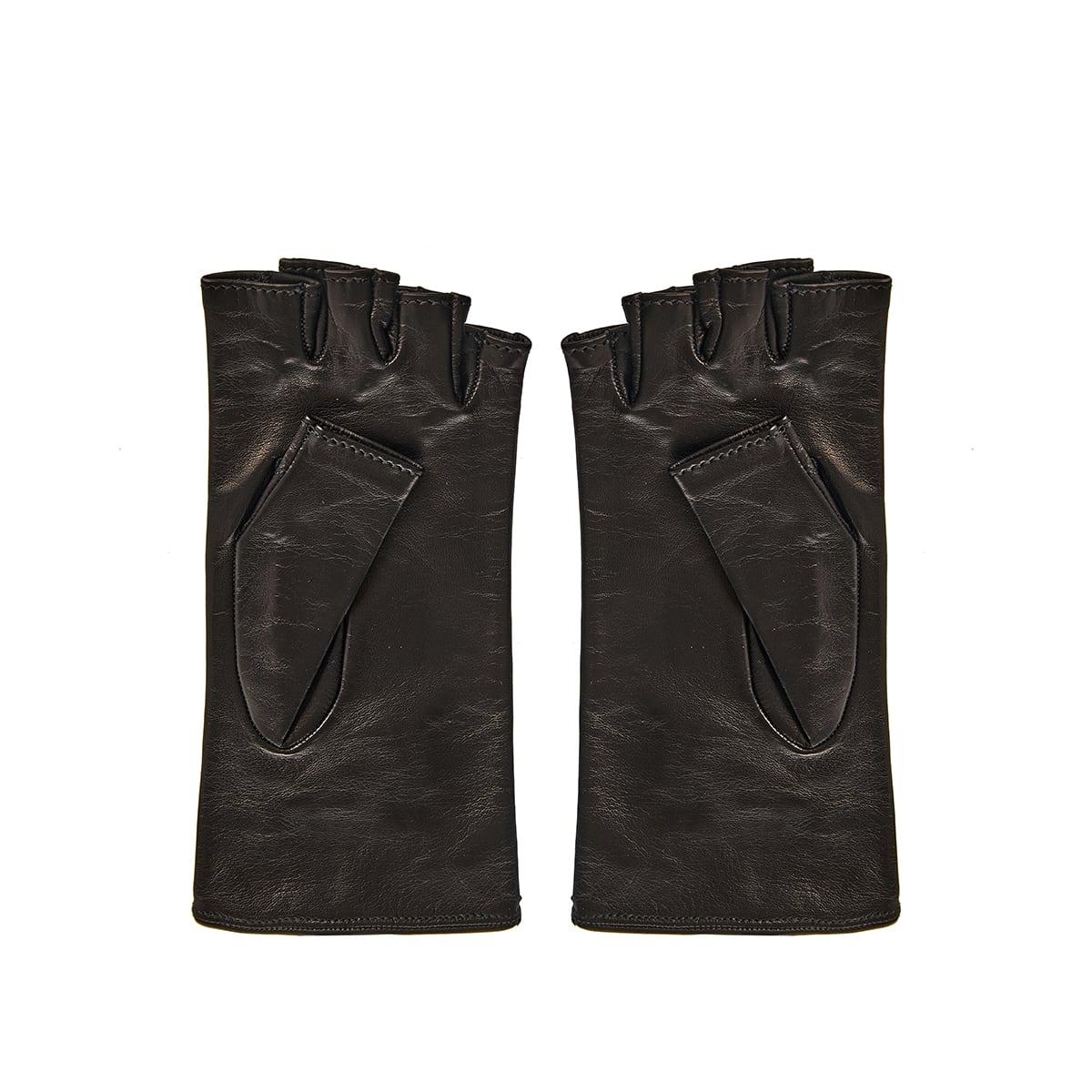 DG fingerless leather gloves