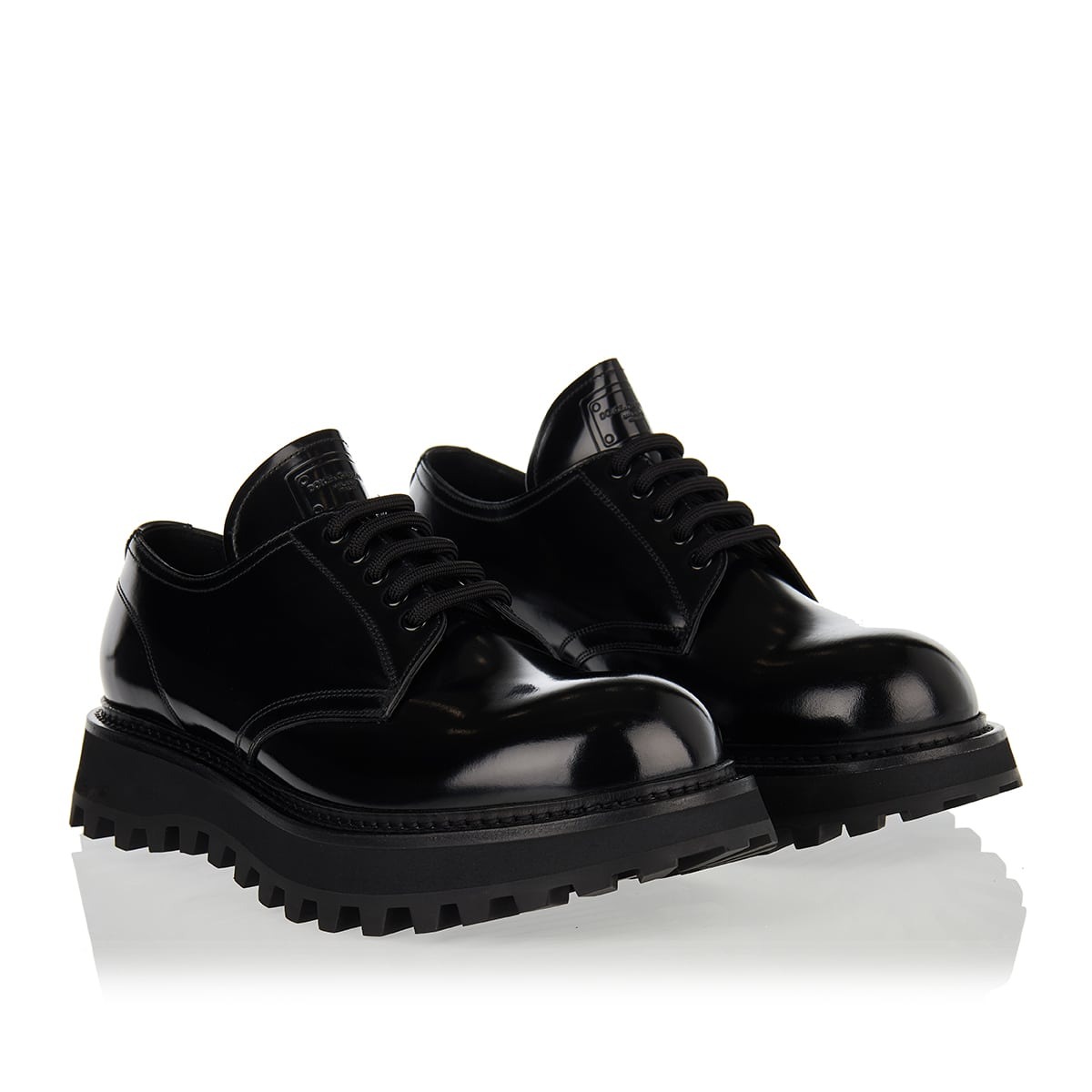 Oversized-sole derby shoes