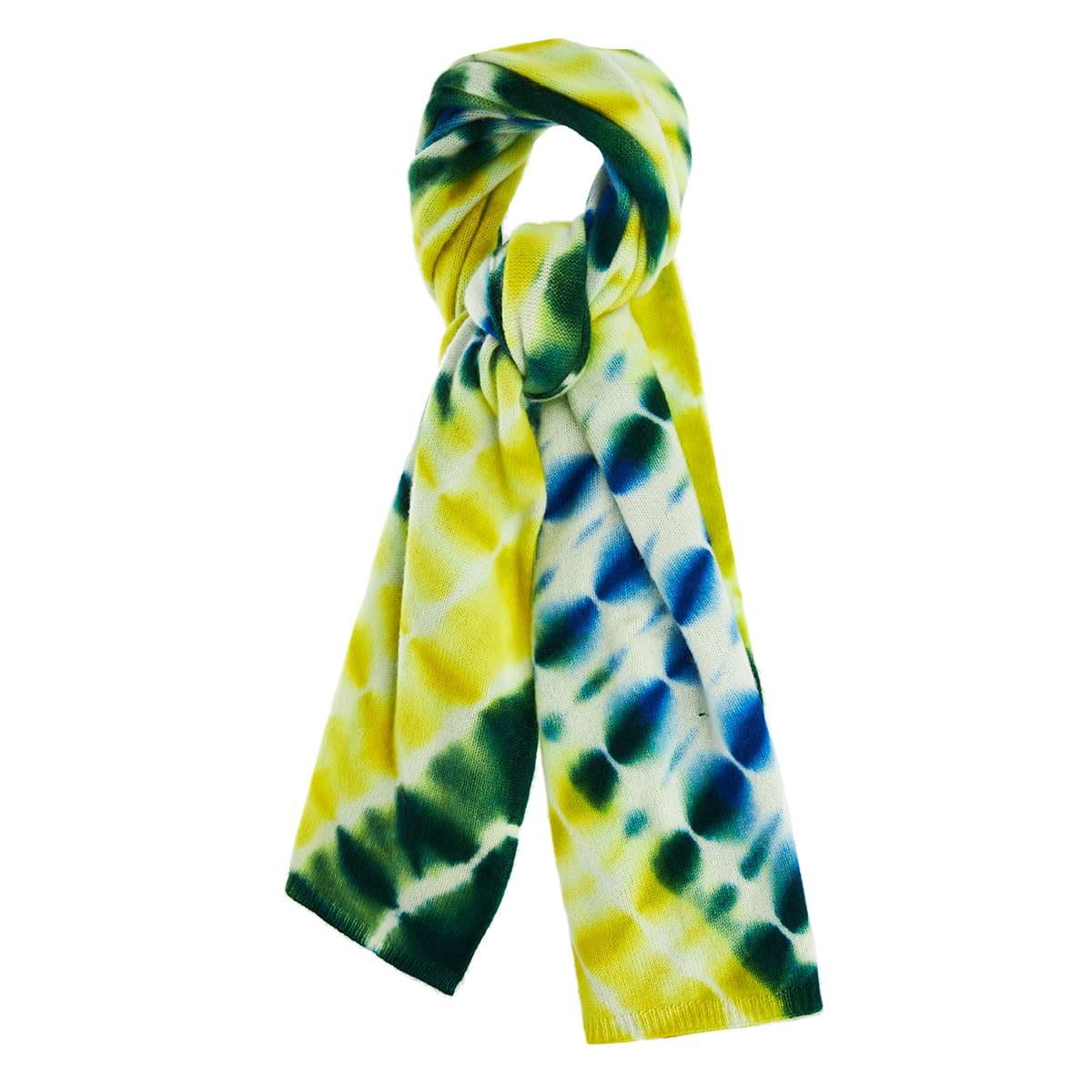 Tie dye cashmere scarf