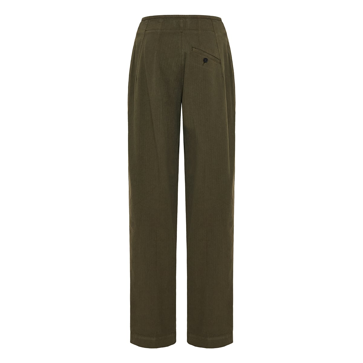 High-waist tapered cotton trousers