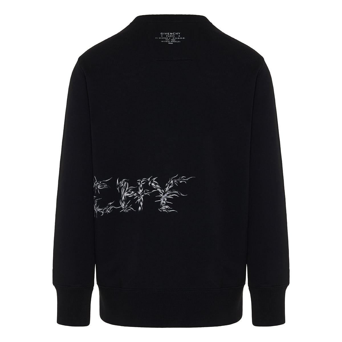 Barbed wire oversized logo sweatshirt