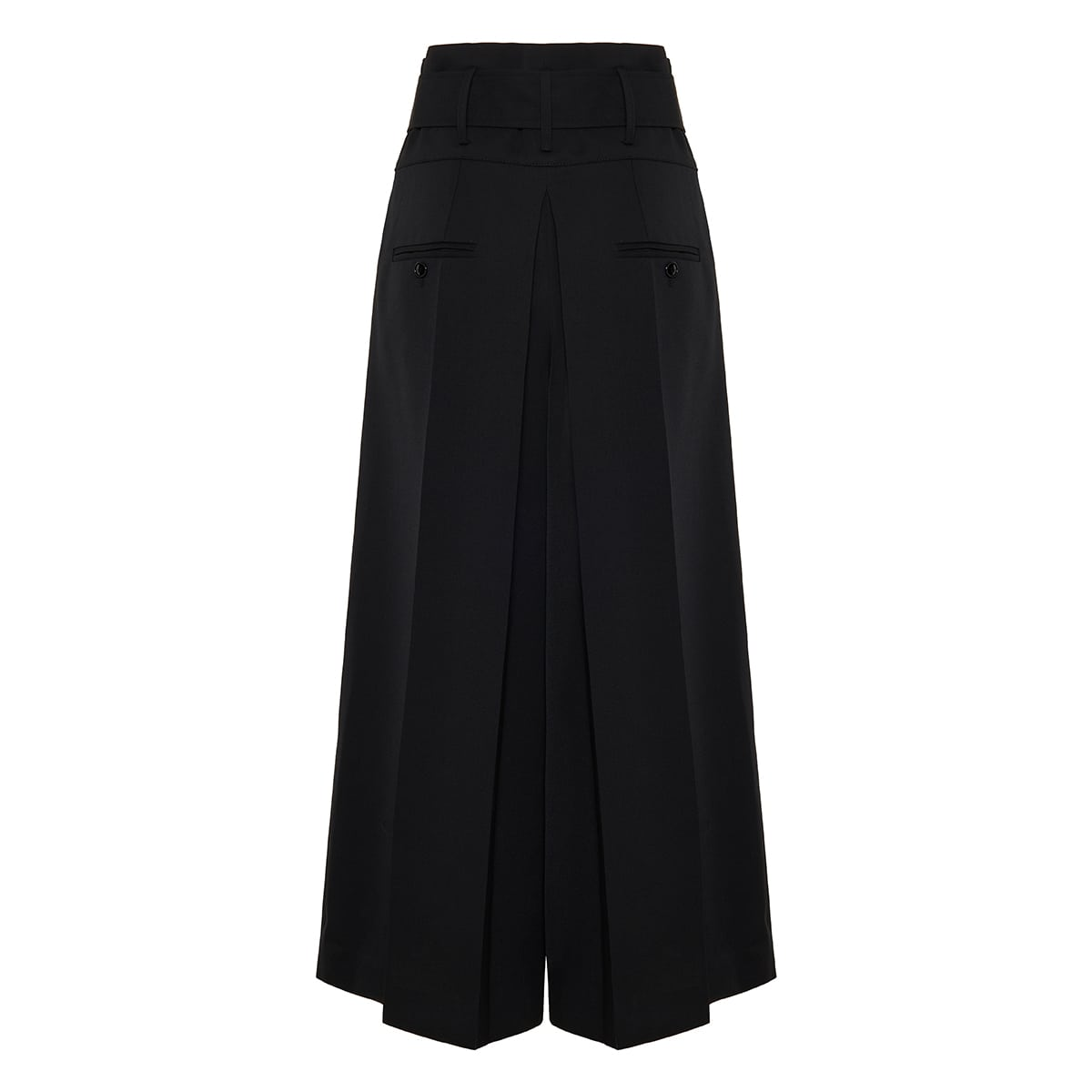 Lanakio belted wool culottes