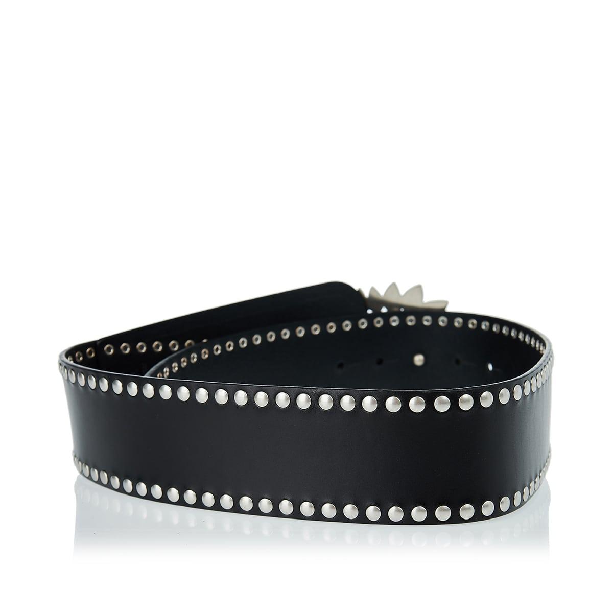 Aliette paisley-buckle studded belt