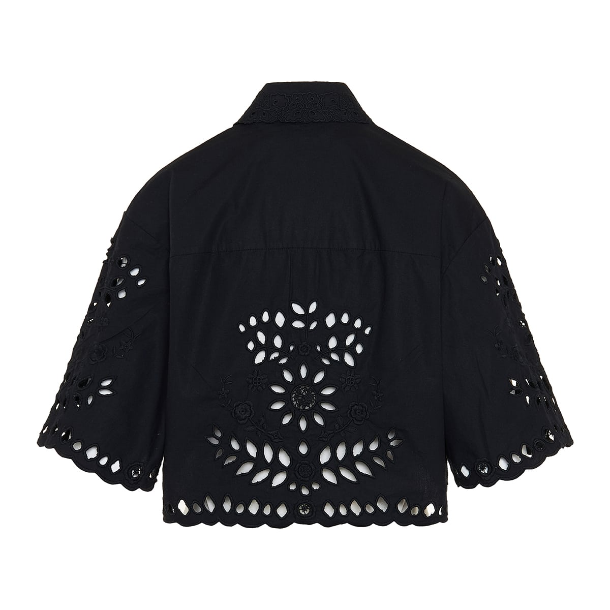 Derron broderie anglaise cropped shirt