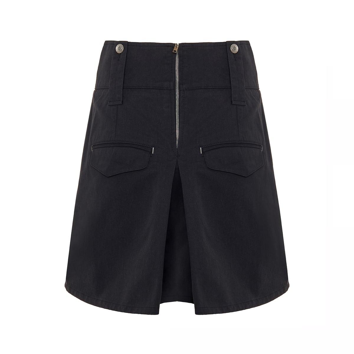 Dicochia flared cotton shorts