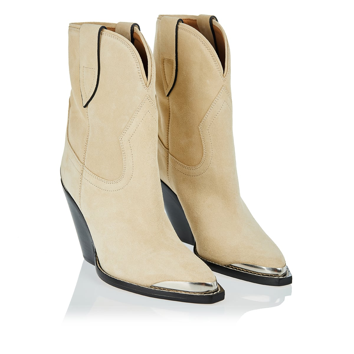 Leyane suede Western boots