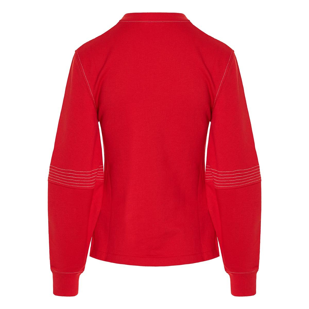Balloon-sleeved cotton sweatshirt