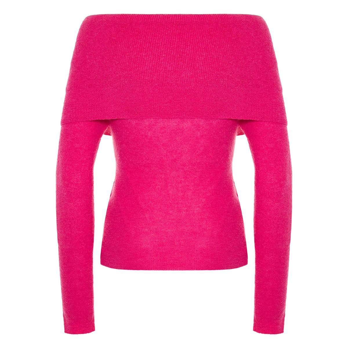 La Maille Ascua off-the-shoulder sweater