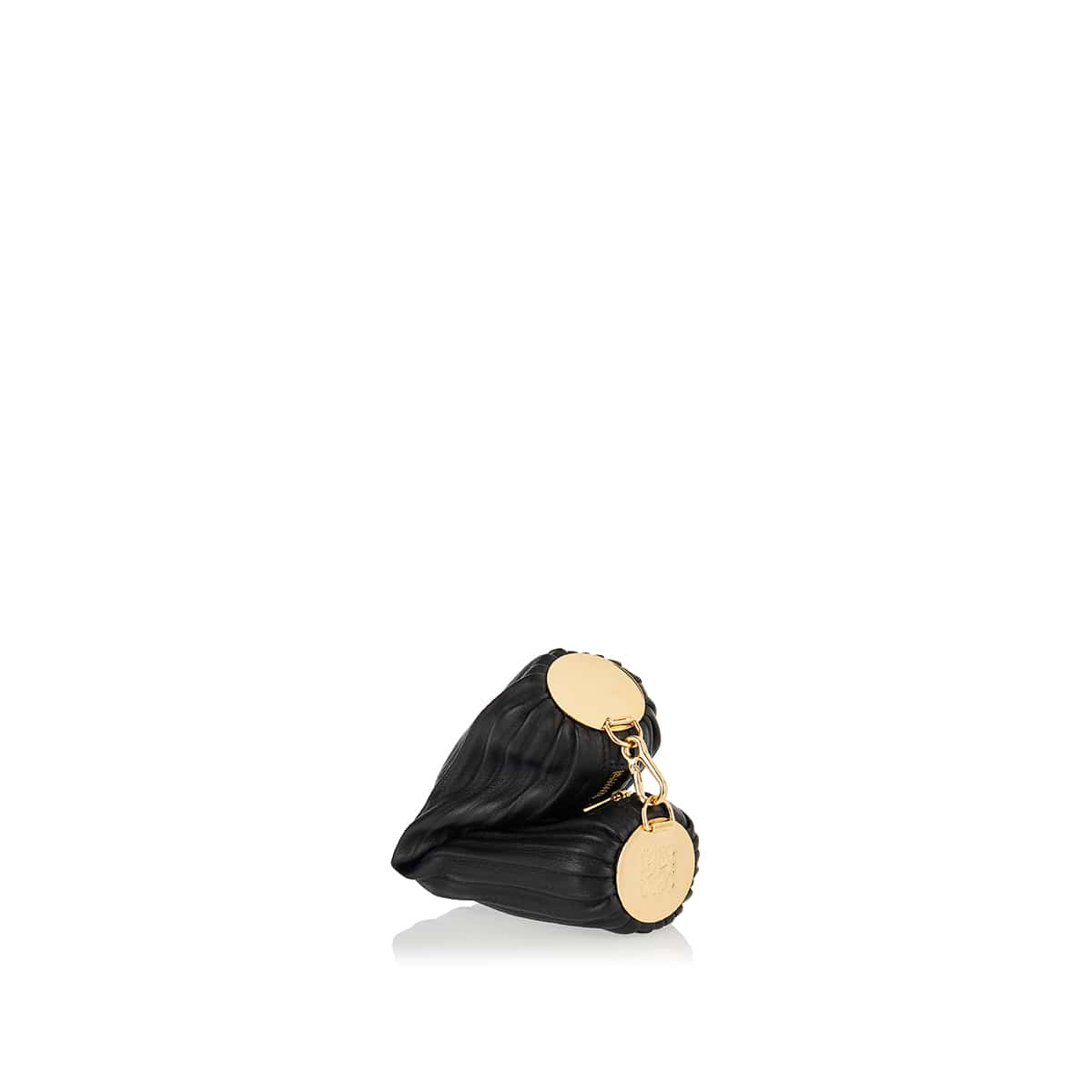 Bracelet small pleated leather pouch