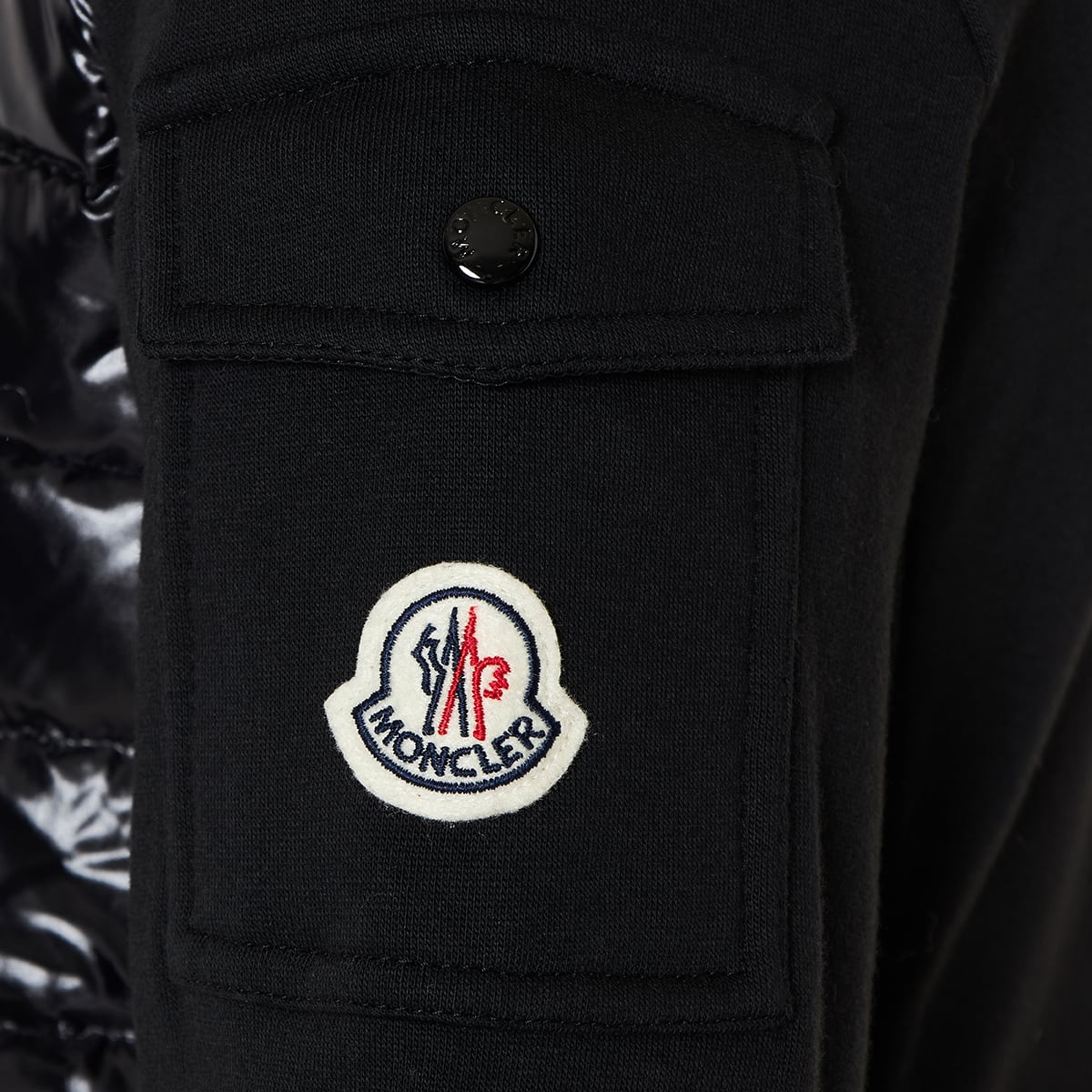 Quilted-panel track jacket