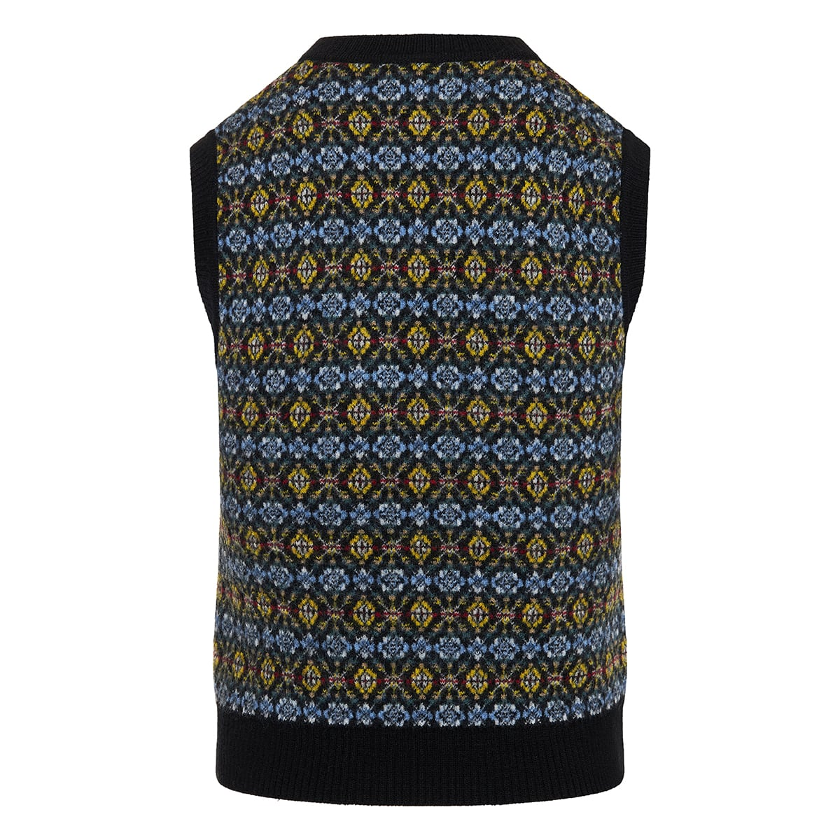 Patterned jacquard wool vest