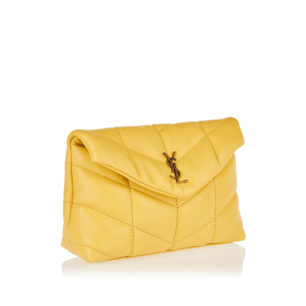 Puffer small quilted clutch