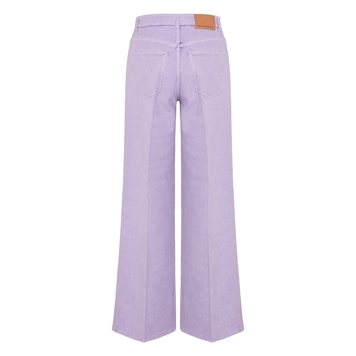 Oversized wide-leg denim trousers