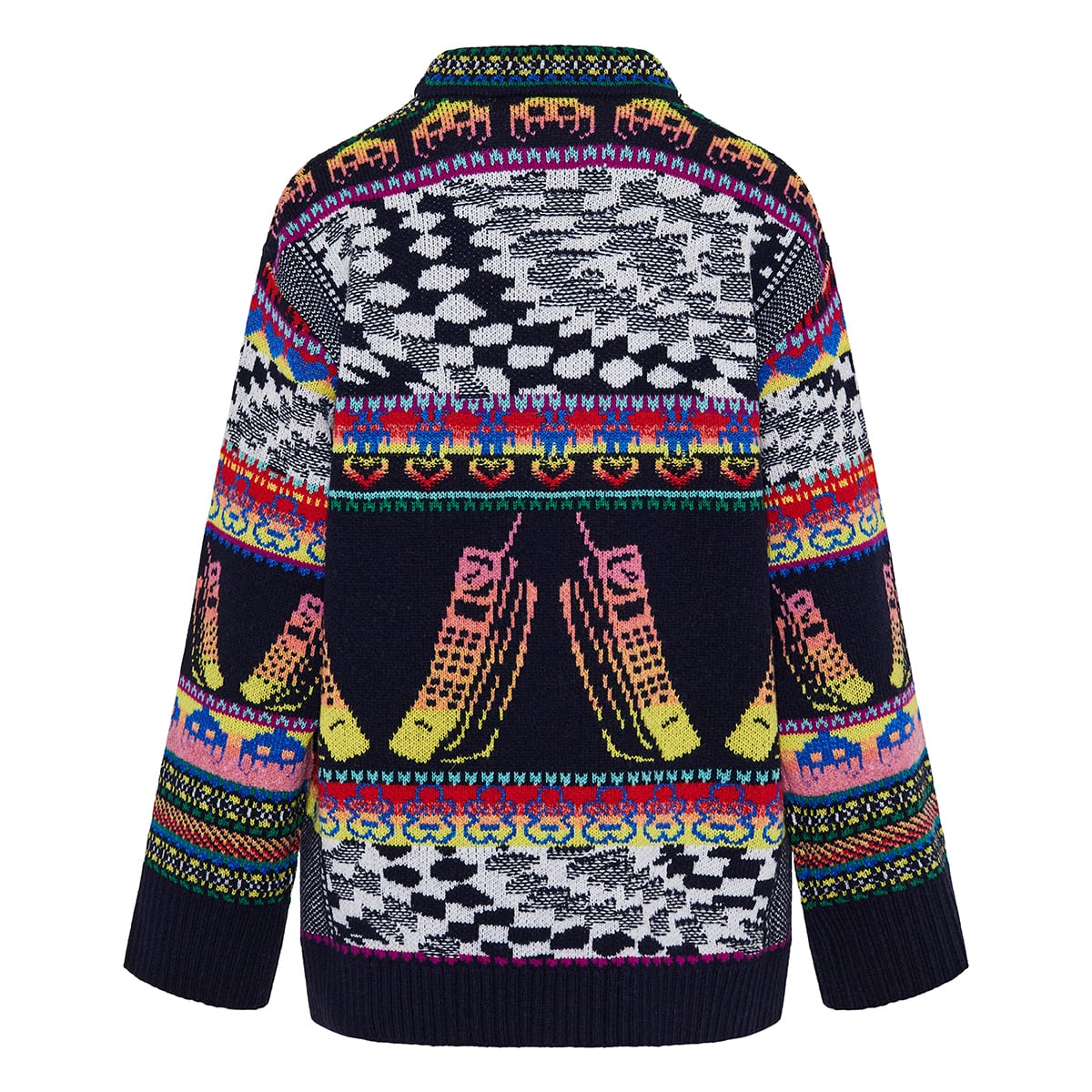 Keep In Touch oversized jacquard sweater