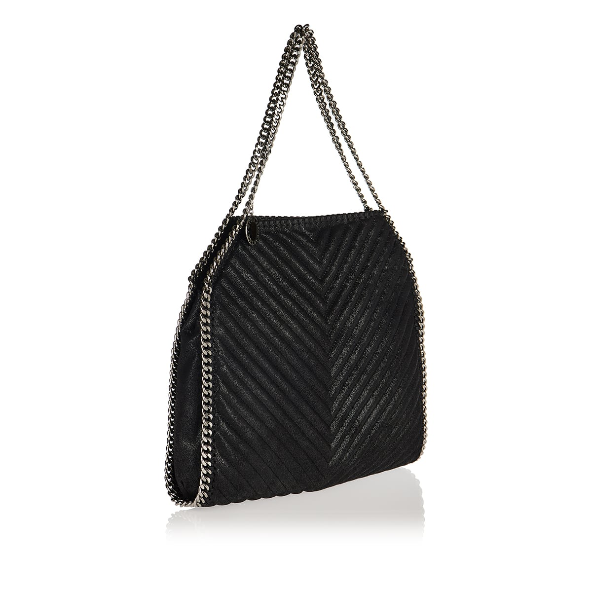 Falabella quilted faux leather tote