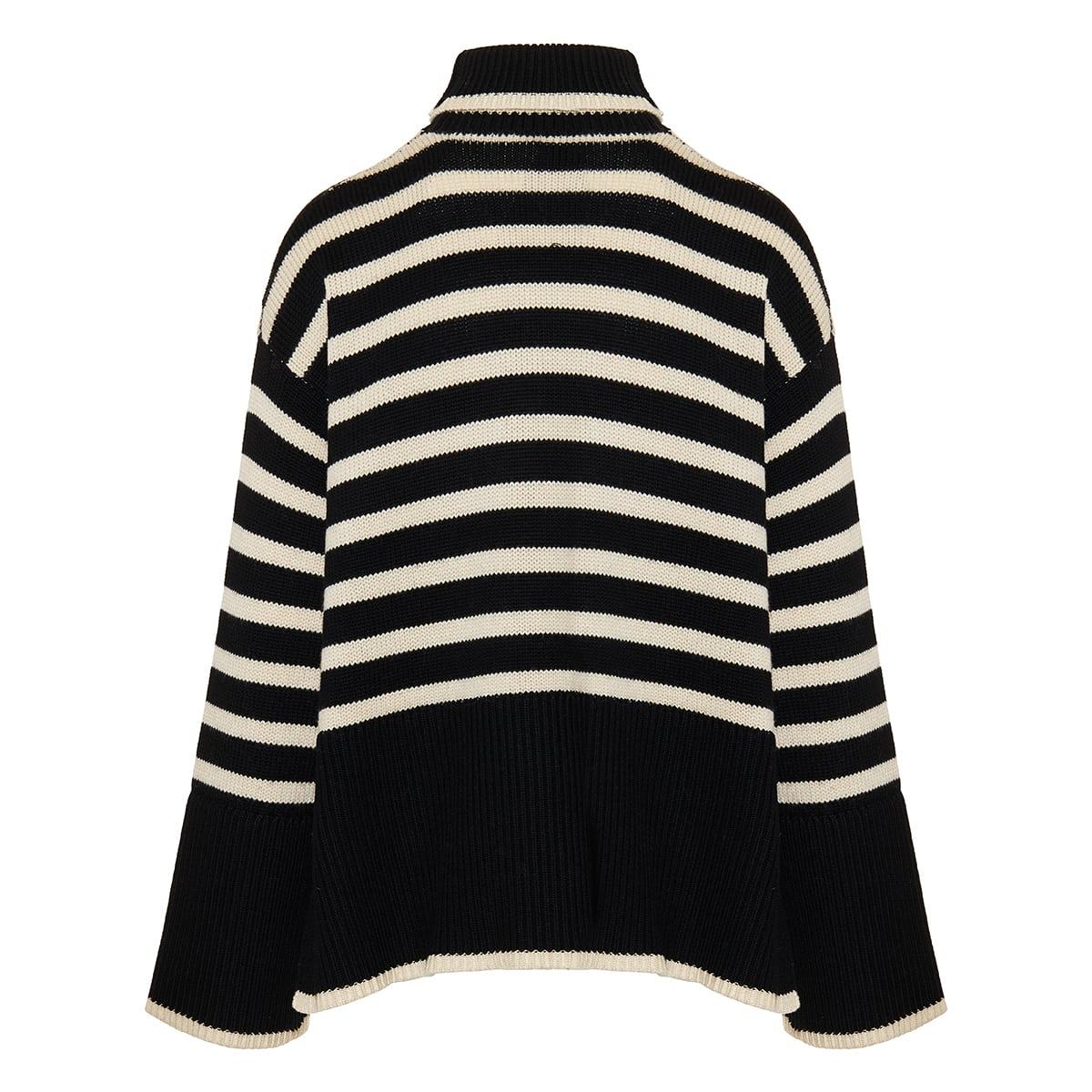 Signature striped turtleneck sweater