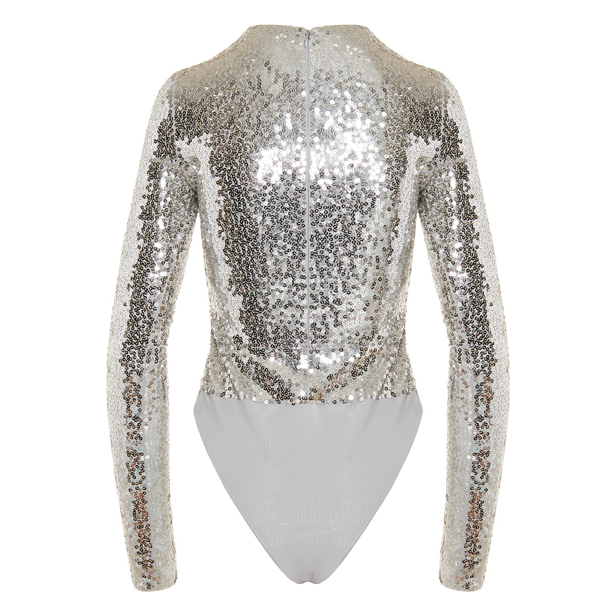 Sequin embellished jersey bodysuit