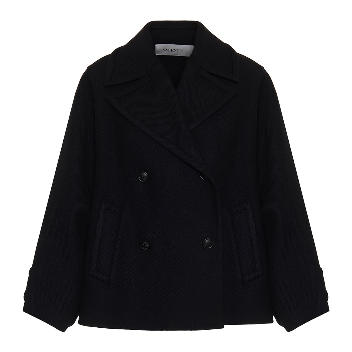 Oversized double-breasted wool coat