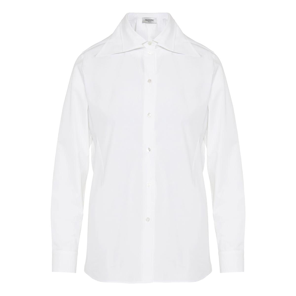 Double-collar poplin shirt