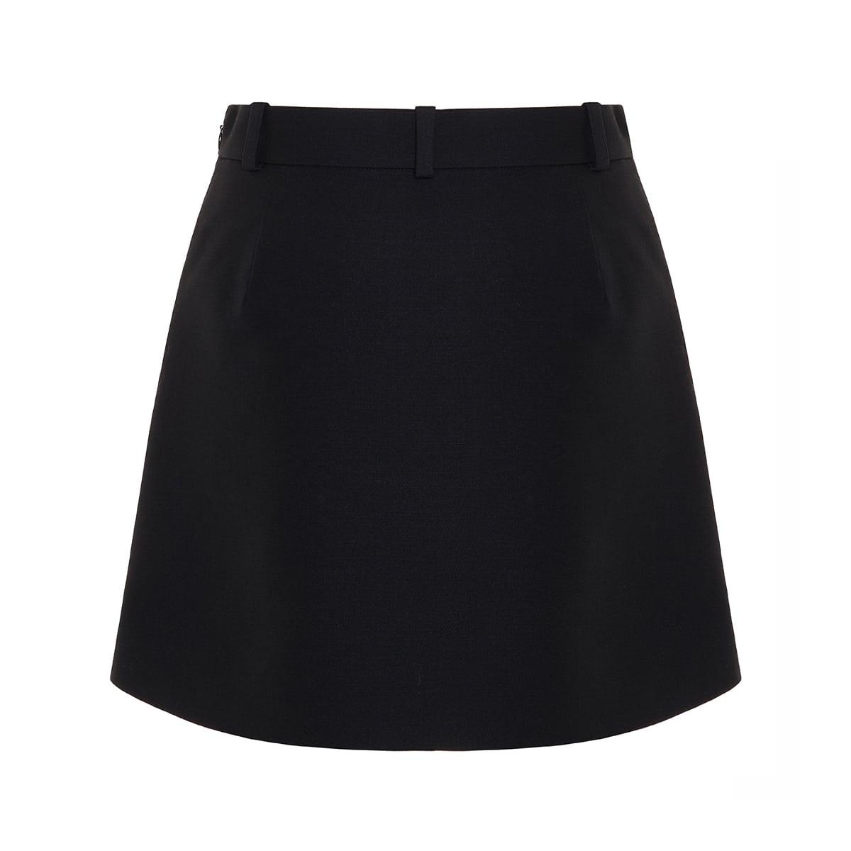Pleated crepe mini skirt