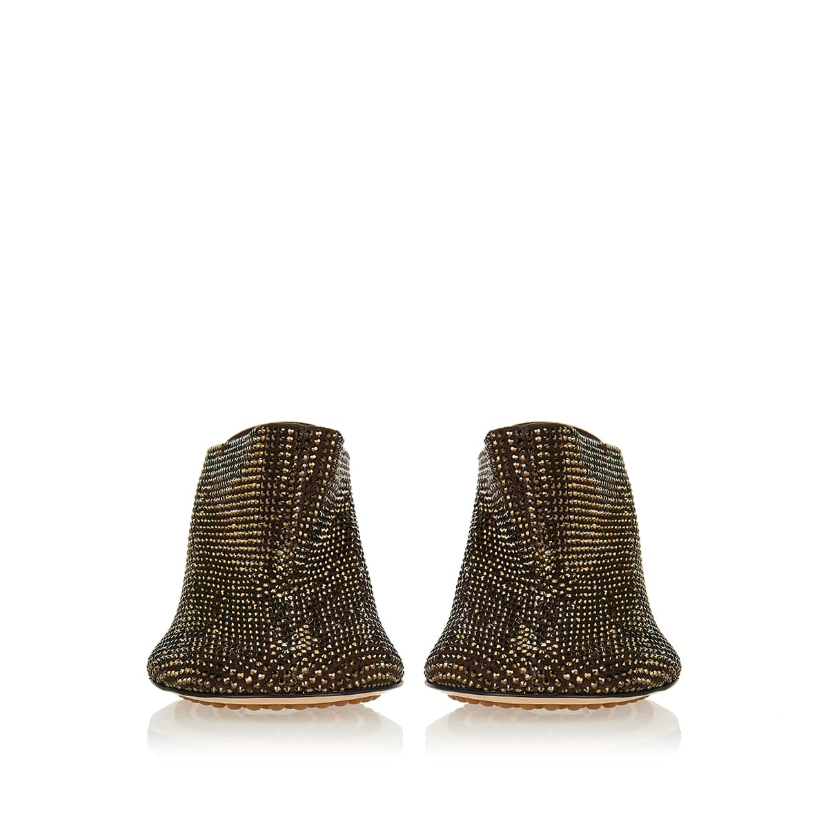 Sparkle Dot Sock suede mules