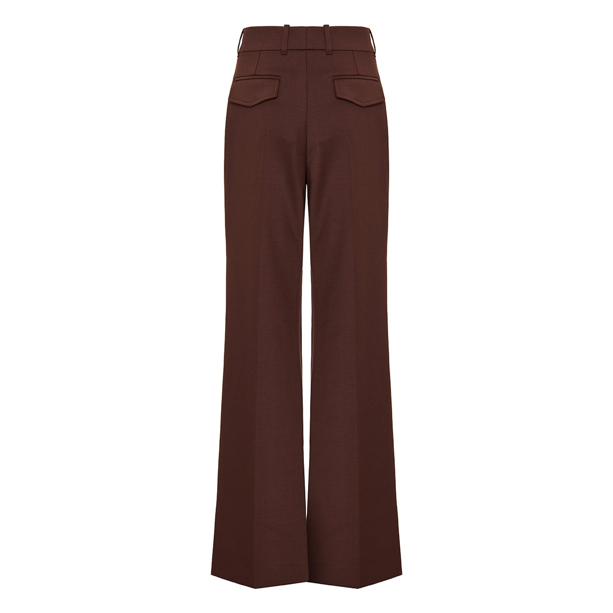 Flared wool canvas trousers
