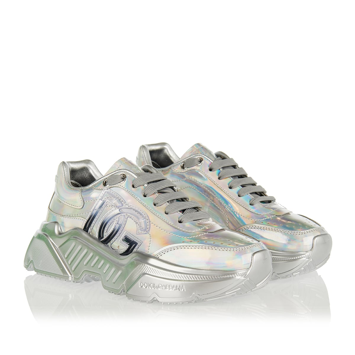 Daymaster DG metallic leather sneakers