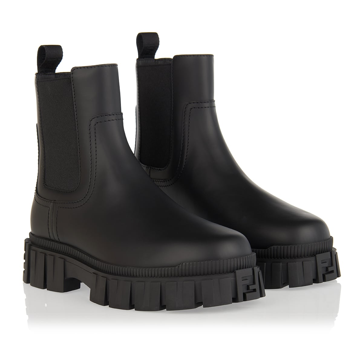 Fendi Force leather Chelsea boots