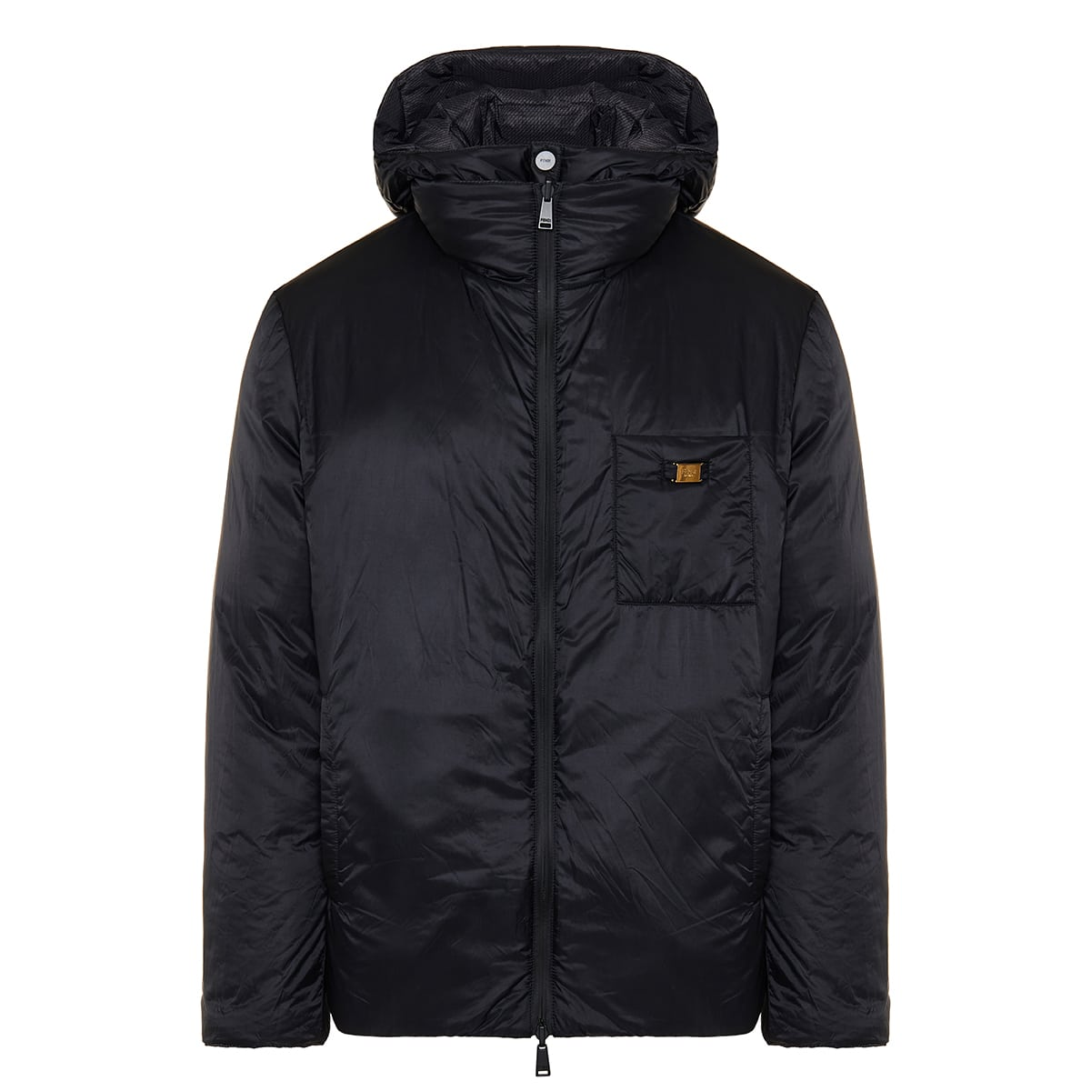 Reversible FF nylon puffer jacket