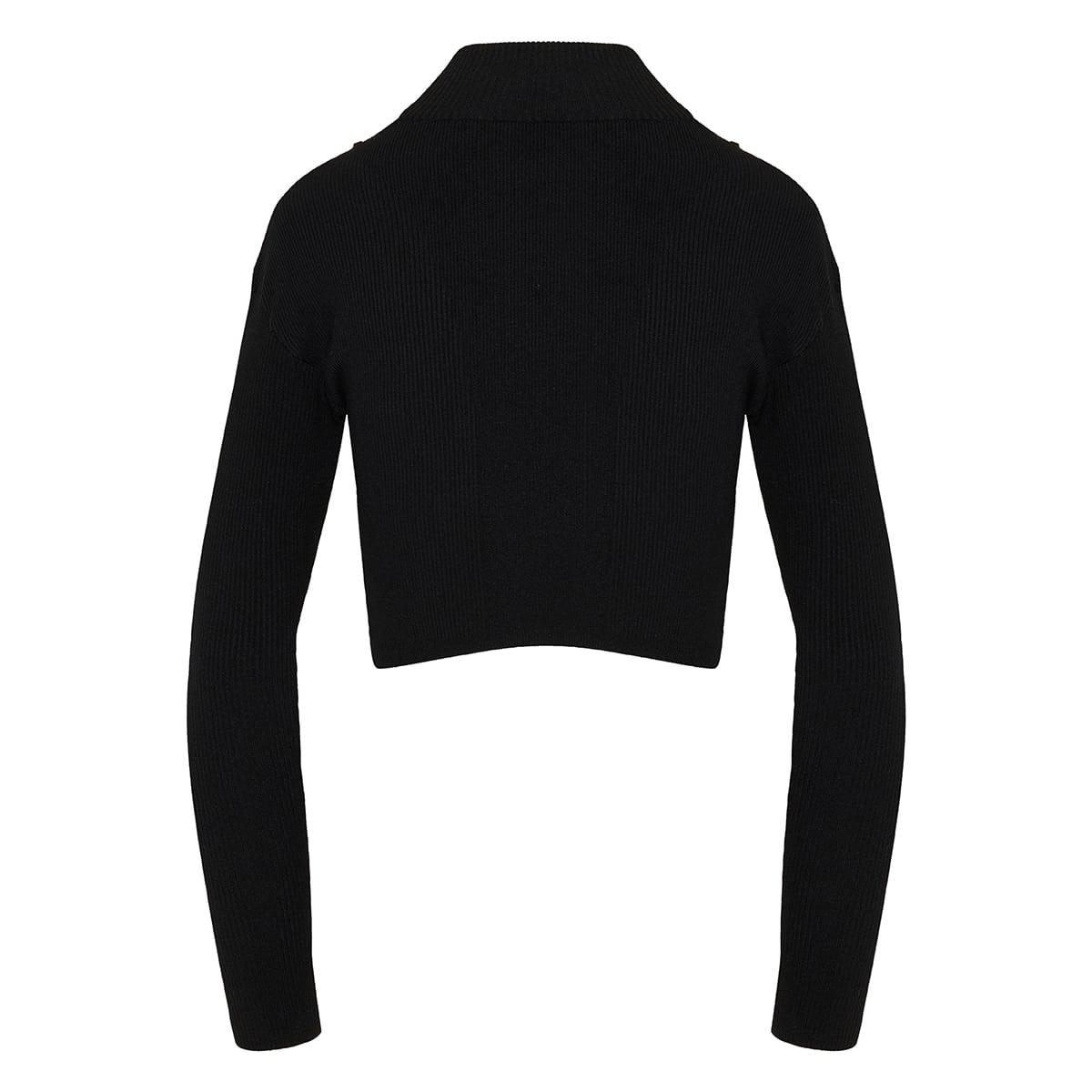 La Maille Bormio rib-knit cropped top
