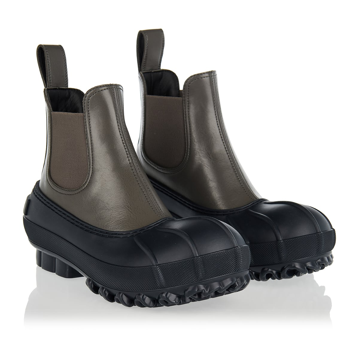 Duck faux leather Chelsea boots