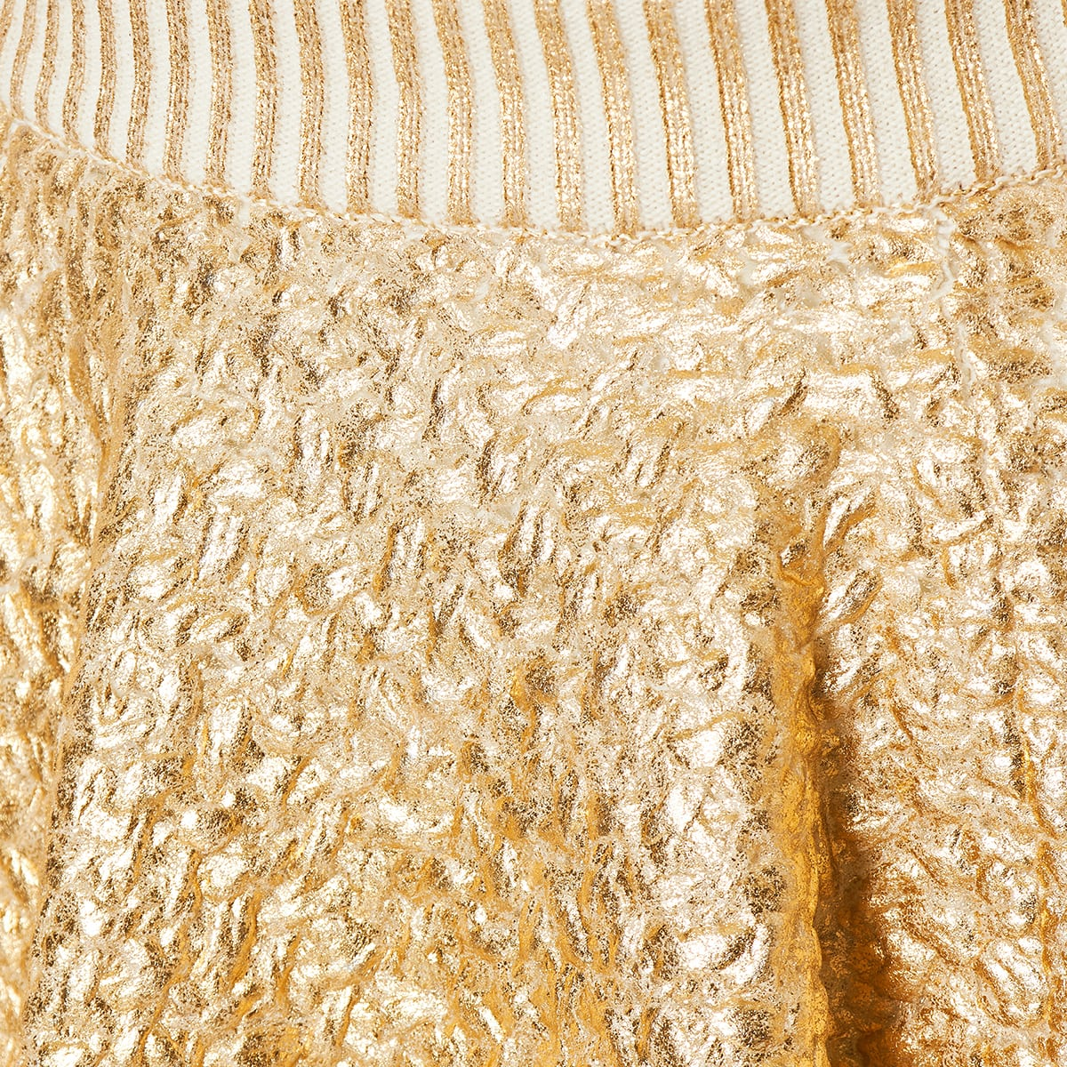 Laminated wool mini skirt